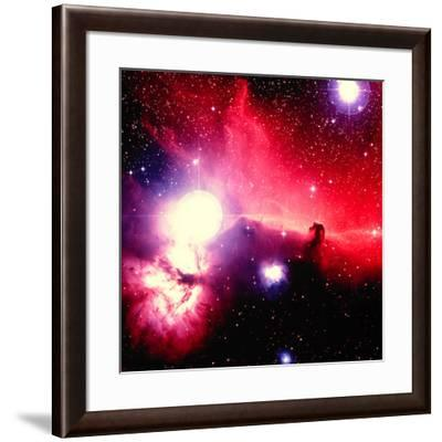 Optical Image of Horsehead Nebula And Sur-Celestial Image-Framed Photographic Print