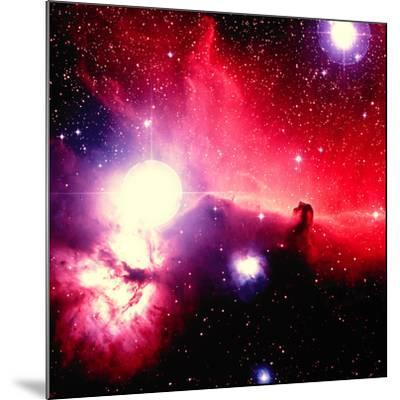 Optical Image of Horsehead Nebula And Sur-Celestial Image-Mounted Photographic Print