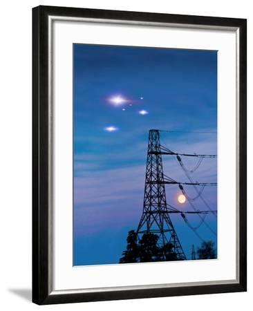UFO Sighting-Richard Kail-Framed Photographic Print