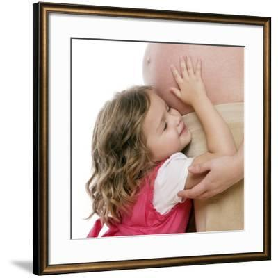 Pregnant Woman And Daughter-Science Photo Library-Framed Photographic Print