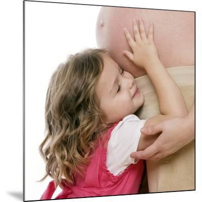 Pregnant Woman And Daughter-Science Photo Library-Mounted Photographic Print