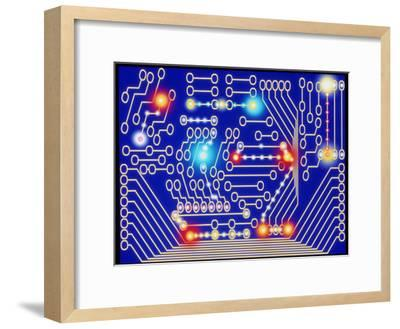 Computer Artwork Representing a Circuit Board-Mehau Kulyk-Framed Photographic Print