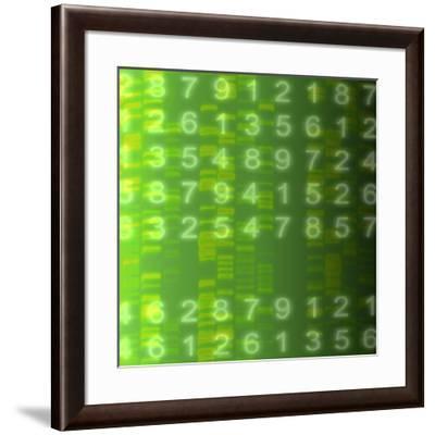 DNA Autoradiogram, Artwork-Mehau Kulyk-Framed Photographic Print