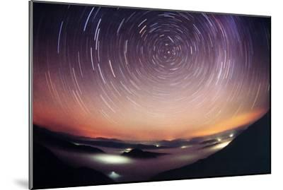 Star Trails-Laurent Laveder-Mounted Photographic Print