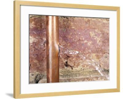 Burst Water Pipe-Andrew Lambert-Framed Photographic Print