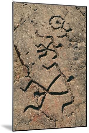 Hawaiian Petroglyph-Brad Lewis-Mounted Photographic Print