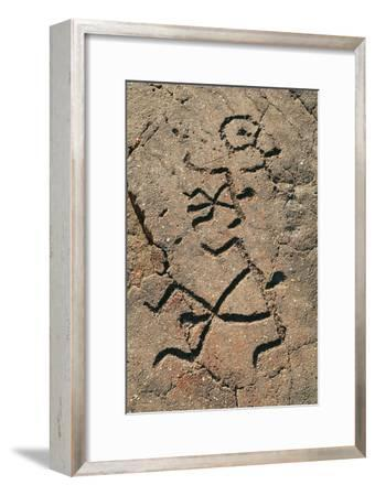 Hawaiian Petroglyph-Brad Lewis-Framed Photographic Print