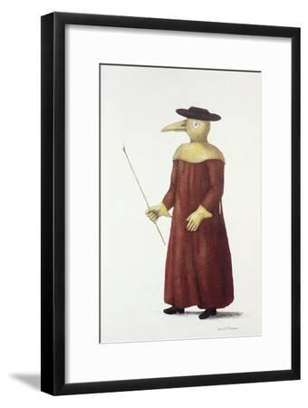 Plague Doctor, 18th Century-Science Photo Library-Framed Photographic Print