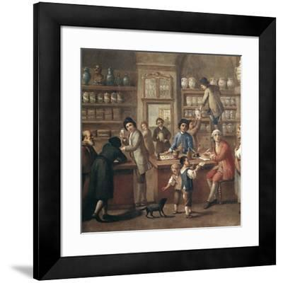 Italian Apothecary, 18th Century-Science Photo Library-Framed Photographic Print