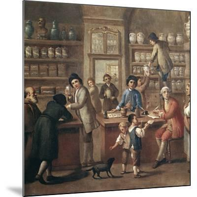 Italian Apothecary, 18th Century-Science Photo Library-Mounted Photographic Print