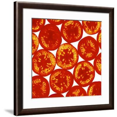 Tomato Slices-Johnny Greig-Framed Photographic Print