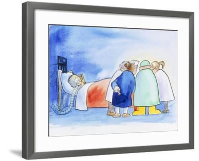 Caricature of a Hospital Consultation-David Gifford-Framed Photographic Print