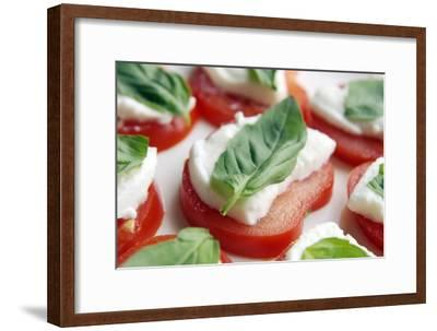 Tomato, Mozzarella And Basil Salad-Johnny Greig-Framed Photographic Print