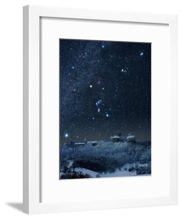 Winter Sky with Orion Constellation-Eckhard Slawik-Framed Photographic Print