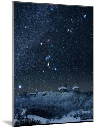 Winter Sky with Orion Constellation-Eckhard Slawik-Mounted Photographic Print