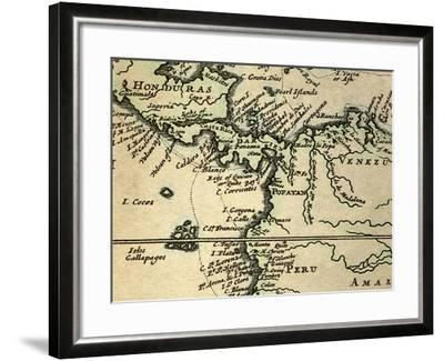 1698 W. Dampier Pirate Naturalist Map-Paul Stewart-Framed Photographic Print
