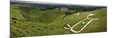 The Uffington Bronze Age White Horse Wide-Paul Stewart-Mounted Photographic Print