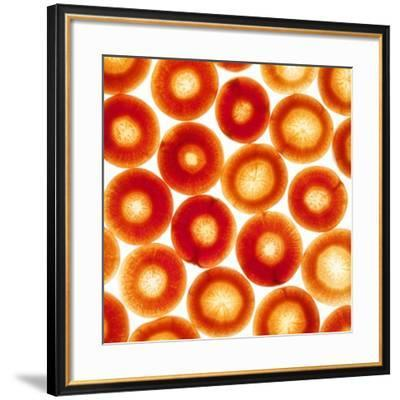 Carrot Slices-Mark Sykes-Framed Photographic Print
