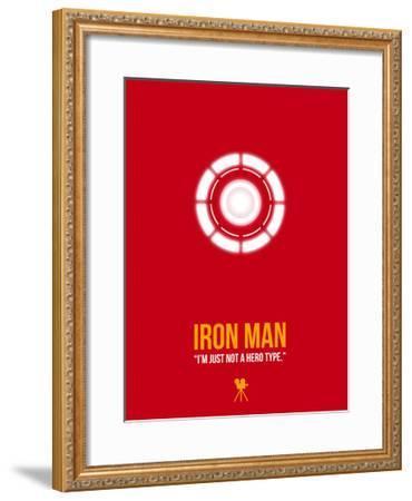 I'm Just Not a Hero Type-David Brodsky-Framed Art Print