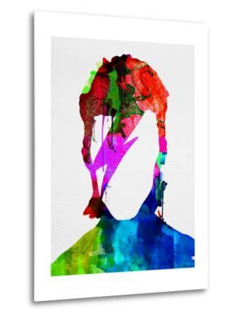 David Watercolor Portrait-Lora Feldman-Metal Print