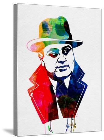 Al Capone Watercolor-Lora Feldman-Stretched Canvas Print