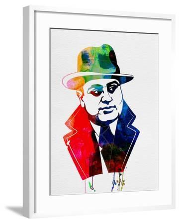 Al Capone Watercolor-Lora Feldman-Framed Art Print