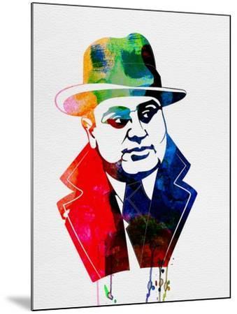 Al Capone Watercolor-Lora Feldman-Mounted Art Print