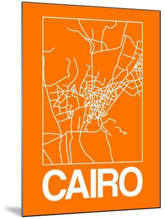 Orange Map of Cairo-NaxArt-Mounted Art Print