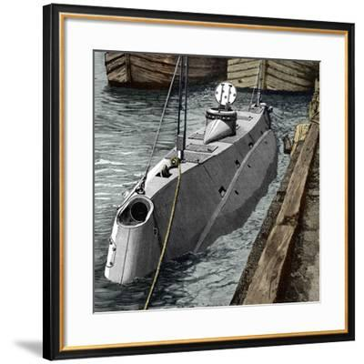 Holland Submarine, New York, 1890s-Sheila Terry-Framed Photographic Print