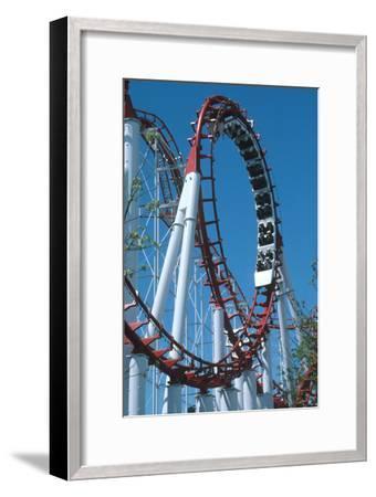 Loop Section of a Rollercoaster Ride-Kaj Svensson-Framed Photographic Print