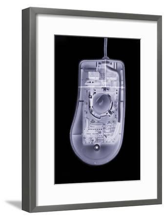 Computer Mouse, Simulated X-ray-Mark Sykes-Framed Photographic Print
