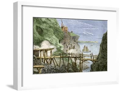 19th-century Tin Mine, Cornwall-Sheila Terry-Framed Photographic Print