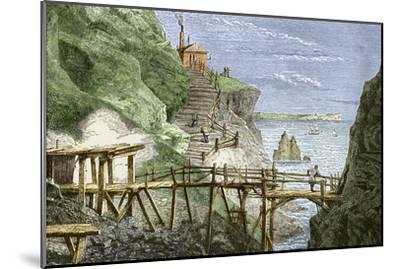 19th-century Tin Mine, Cornwall-Sheila Terry-Mounted Photographic Print