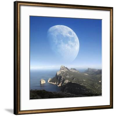 Moonrise Over Mallorca-Detlev Van Ravenswaay-Framed Photographic Print