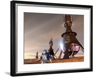 Space Tourism on Mars-Detlev Van Ravenswaay-Framed Photographic Print