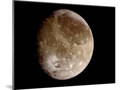 Jupiter's Moon Ganymede--Mounted Photographic Print