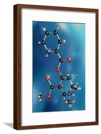 Cocaine Drug Molecule-Miriam Maslo-Framed Photographic Print