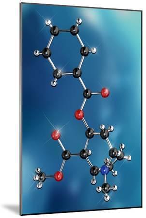 Cocaine Drug Molecule-Miriam Maslo-Mounted Photographic Print