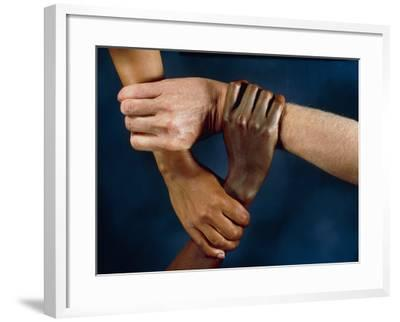 Linked Hands-Tony McConnell-Framed Photographic Print