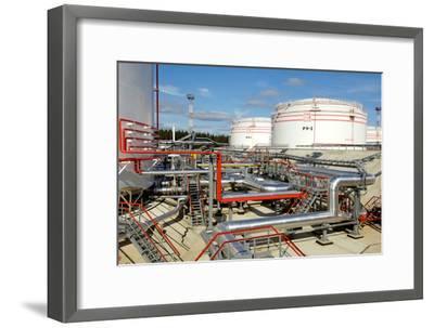 Oil Pipelines And Storage Tanks-Ria Novosti-Framed Photographic Print