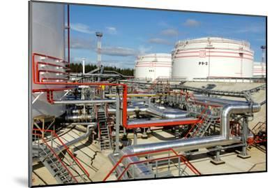 Oil Pipelines And Storage Tanks-Ria Novosti-Mounted Photographic Print