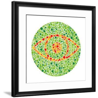 Colour Blindness Test-David Nicholls-Framed Photographic Print