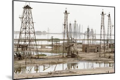 Caspian Sea Oil Rigs-Ria Novosti-Mounted Photographic Print