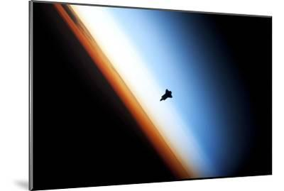 Space Shuttle Over Earth's Horizon--Mounted Photographic Print