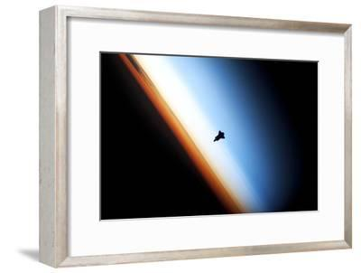 Space Shuttle Over Earth's Horizon--Framed Photographic Print