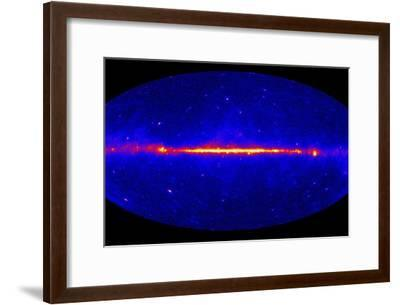 Fermi Gamma-ray Space Telescope Sky Map--Framed Photographic Print