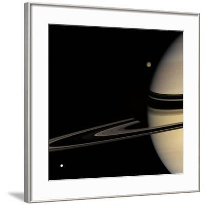 Saturn, Cassini Image--Framed Photographic Print