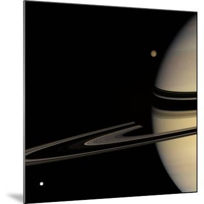 Saturn, Cassini Image--Mounted Photographic Print