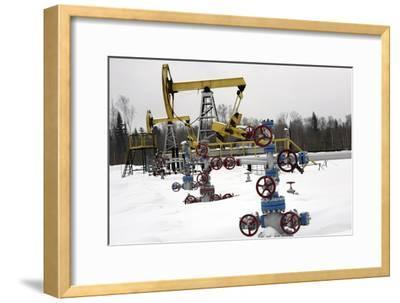 Oil Field-Ria Novosti-Framed Photographic Print