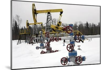 Oil Field-Ria Novosti-Mounted Photographic Print